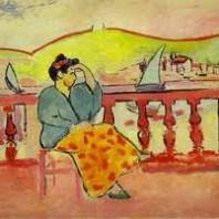 Cuadro: Mujer en la terraza de Matisse