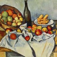 Cuadro: Cesta de manzanas de Paul Cézanne