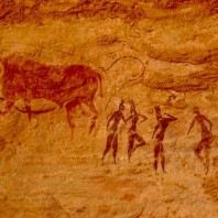 Cuadro: pintura rupestre