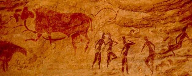 Cuadro: Caballos y toros en la historia