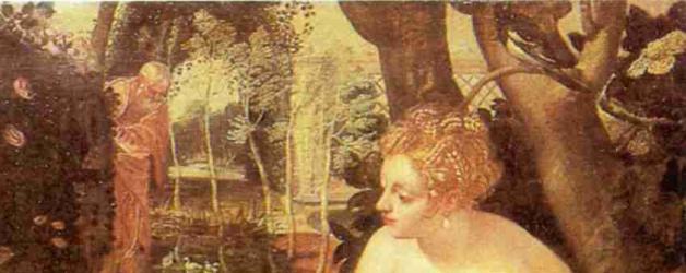 Cuadro: Susana y los viejos de Tiintoretto