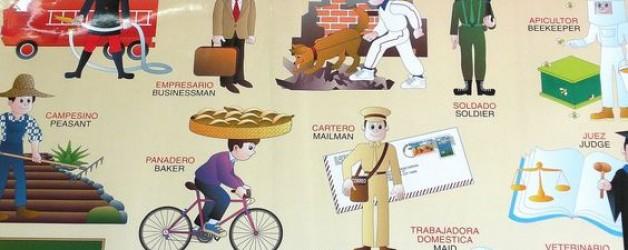 Cuadros: profesiones viñeta de Quino I