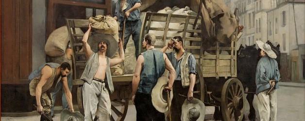 Cuadro: Los cargadores de harina de Carrier Belleuse