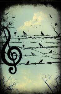 con la musica a...