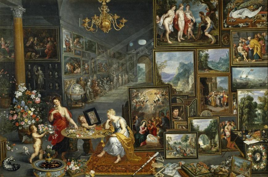 """La Vista y el Olfato, Jan Brueghel """"el Viejo"""""""